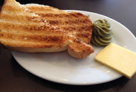 Hainan toast with butter & kaya
