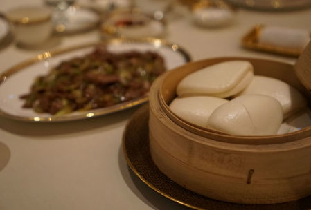 Mongolian lamb with steamed buns