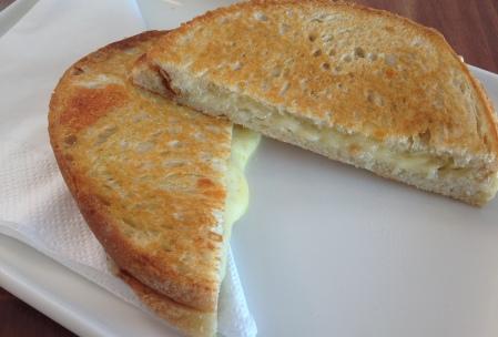 Triple cheese blend toastie ($7)