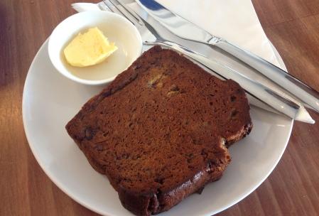 Artisian butter espresso caramel banana bread ($5.50)