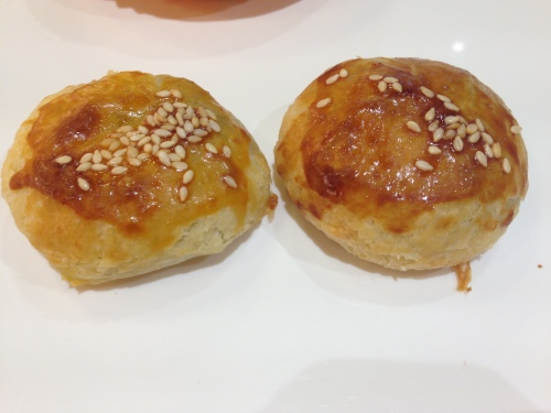 BBQ pork puff pastry ($1.40)