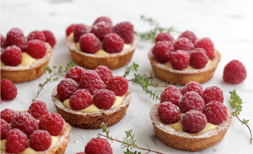 Raspberry & Lemon Curd Tart | Bake you smile