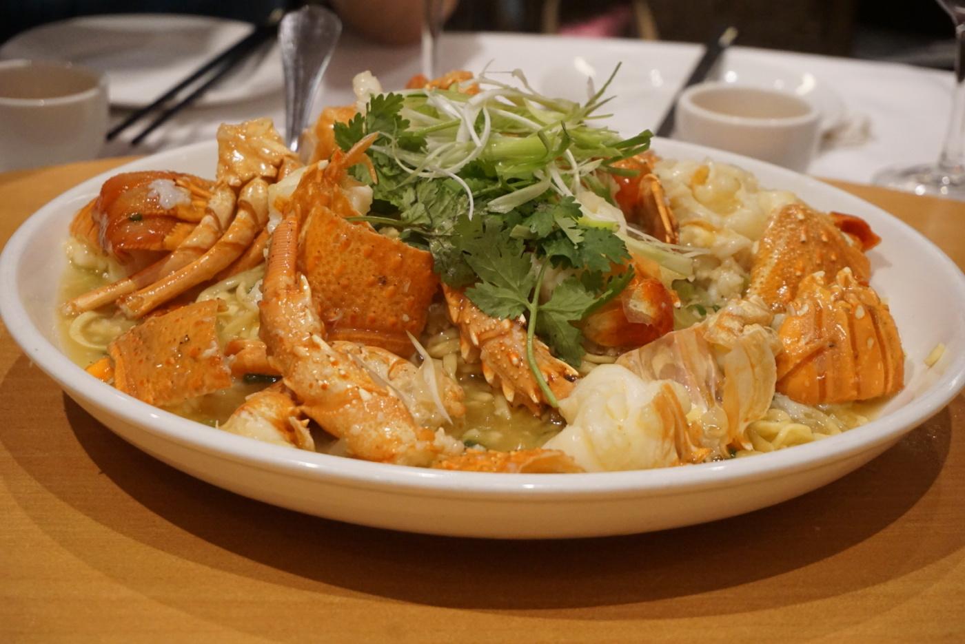 Lobster yee mien (Lobster noodles)