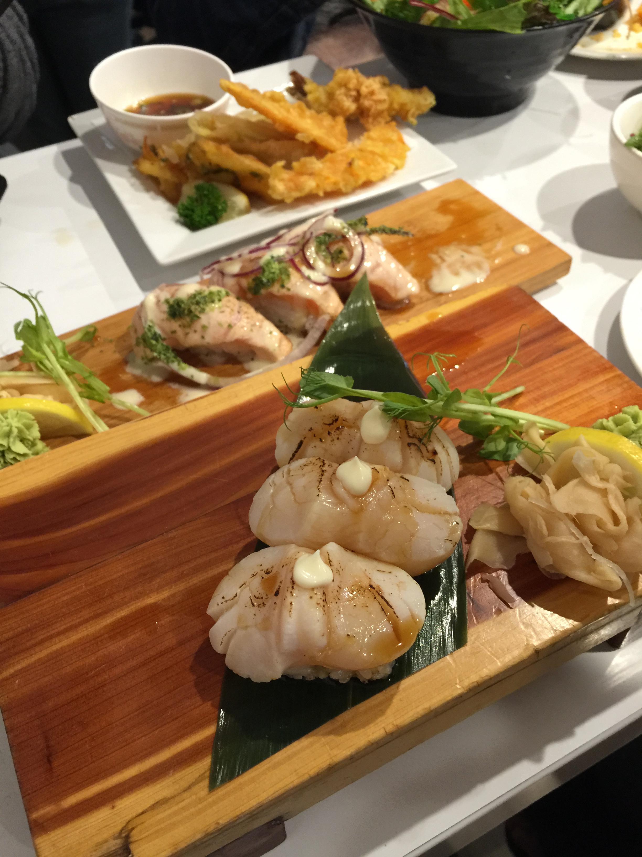 Abrui scallops & salmon (half eaten)