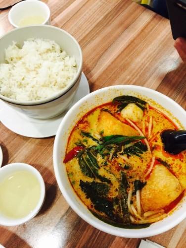 Yong tau fu in curry soup ($9.80)