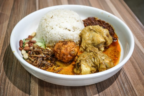 Nasi lemak kampong style ($9.80)