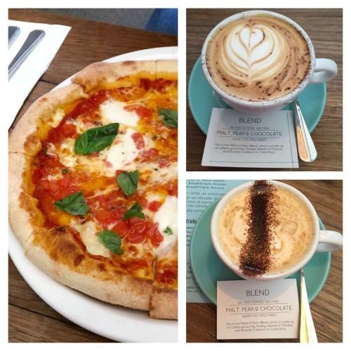 Pizza & coffees (Photo credit to Cheentya)