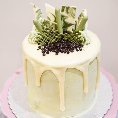 Chocolate hazelnut & strawberry cake