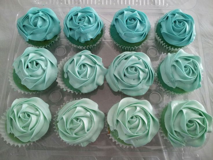 Tiffany Blue Ombre Cupcakes Bake You Smile