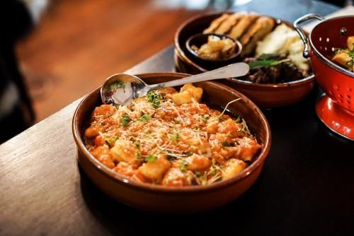 Potato gnocchi, napoli sauce, basil, and mozzarella ($23)